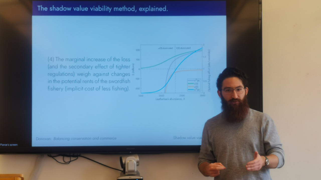 Pierce is talking about the shadow value viability method.