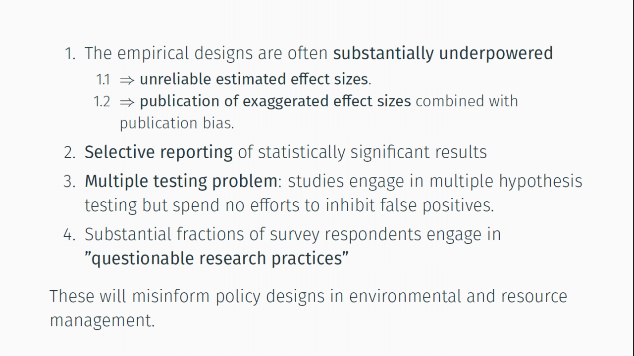 4 key findings of the paper highlight problems that the discipline needs to address.